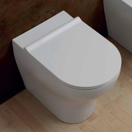 Váza White keramické WC hvězda 54x35cm Made in Italy, moderní design
