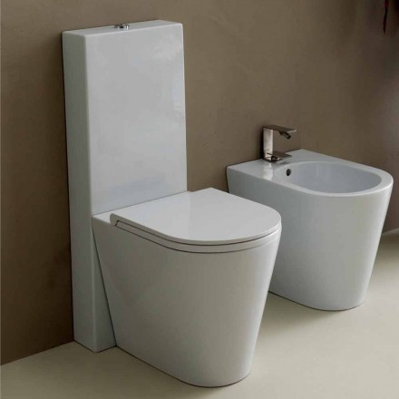 Váza WC v moderních bílých keramických Sun Kolo 57x37 cm Made in Italy