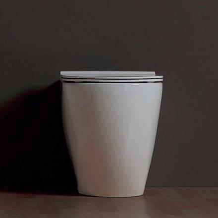 Váza moderní WC bílé keramické Shine Square vrtaných Made in Italy