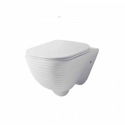 Moderní zavěšená toaletní váza v bílé nebo barevné keramické Trabia