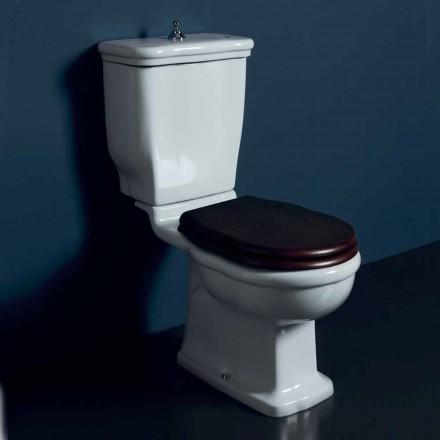 Vaso-kus WC v bílé keramické Style 72x36 cm, vyrobeno v Itálii