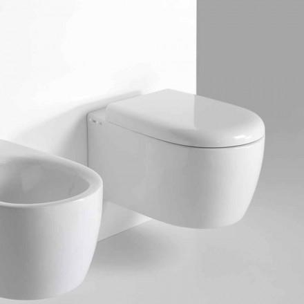 Moderní design Wall Hung WC v barevné keramice Vyrobeno v Itálii - Lauretta