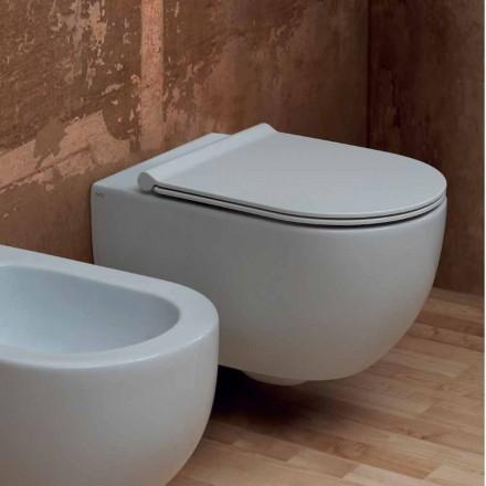 Závěsná WC v moderním designu keramických hvězda 55x35 Made in Italy