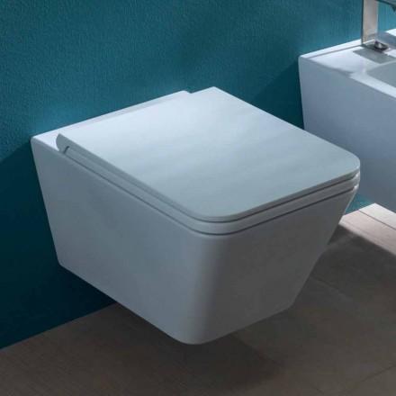 Keramické vázy závěsné WC, moderní design, Sun Square made in Italy