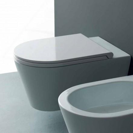 Pot závěsné WC v moderním Sun kulatého 57x37 cm keramiky, made in Italy