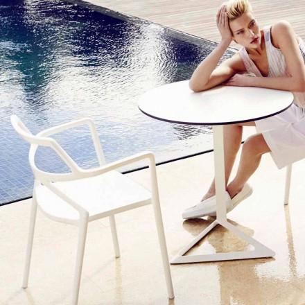 Vondom Delta moderní designová polypropylenová zahradní židle, 4 kusy