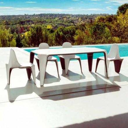 Vondom F3 Zahradní stůl L190xP90cm v polyetylenu, moderní design