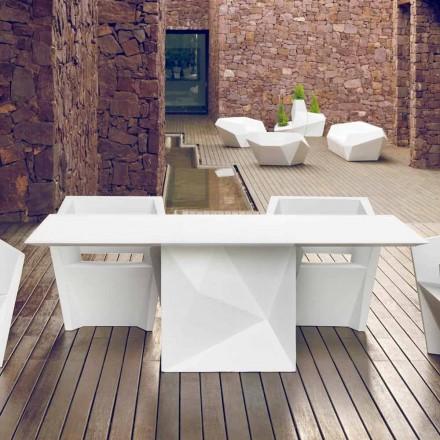 Vondom Faz bílý lakovaný zahradní stůl L200xP100cm designu