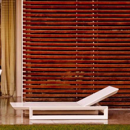 Vondom Frame design zahradní postel v bílém polyetylenu