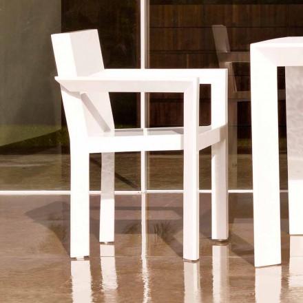 Zahradní židle Vondom Frame s područkami v polyethylenové pryskyřici