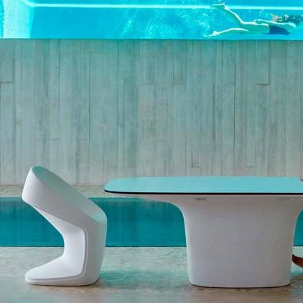 Vondom Ufo moderní bílá zahradní židle, L56 x P62 x H83 cm